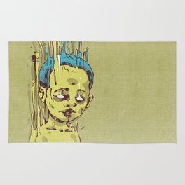 The Golden Boy with Blue Hair Rug
