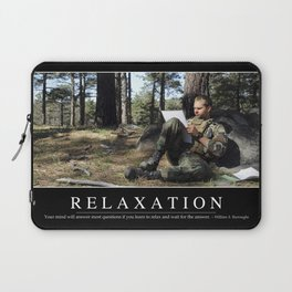 Relaxation: Inspirational Quote and Motivational Poster Laptop Sleeve