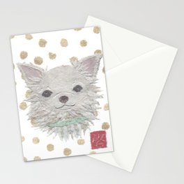 CHIHUAHUA, Long Haired Chihuahua, Dog Stationery Cards