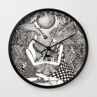 bond Wall Clocks featuring Bond by Anca Chelaru