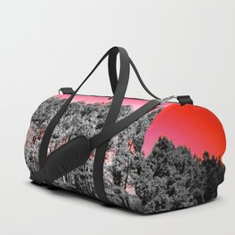 Gray Trees Candy Apple red Sky Duffle Bag