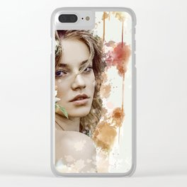Mina Queen of Spring Clear iPhone Case