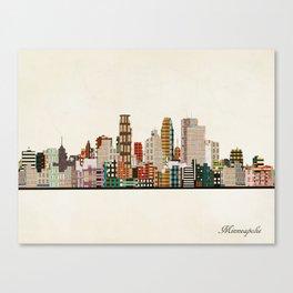 minneapolis skyline Canvas Print