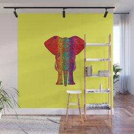 Rainbow Ganesha (Yelow Background) Wall Mural