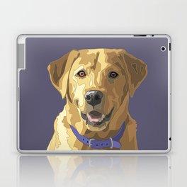 Happy Yellow Labrador Retriever Face Laptop & iPad Skin