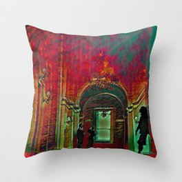 The Crushing Weight of Defeat:  Divide Throw Pillow