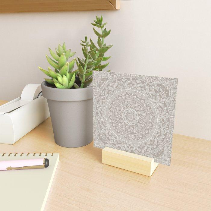 Mandala - Taupe Mini Art Print
