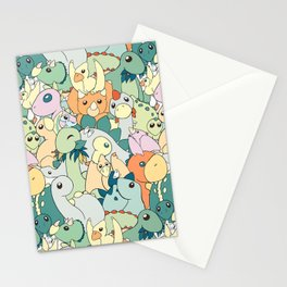 Cute Dino Pattern Stationery Cards