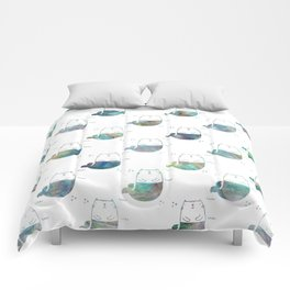 MerKitty Ocean Seashell Comforters