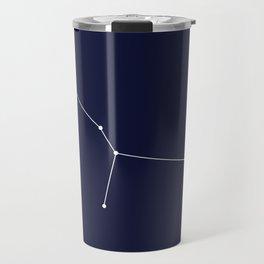 Cancer Star Sign Deep Blue Travel Mug