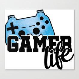 Gamer life Canvas Print
