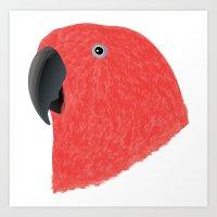Eclectus [Female] Parrot Art Print