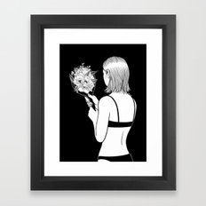 Fall in love with myself first Framed Art Print
