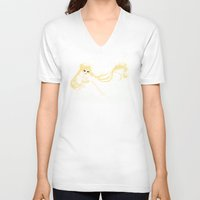 serenity V-neck T-shirts featuring Serenity by Melissa Smith