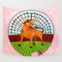 taurus Wall Tapestries featuring Taurus by Sandra Nascimento