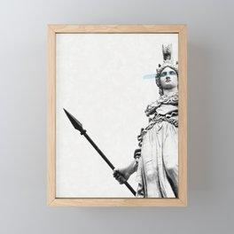 Athena the goddess of wisdom Framed Mini Art Print