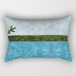Geo Labrador Flag Rectangular Pillow