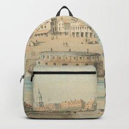 Vintage Pictorial View of Vicksburg MS (1854) Backpack