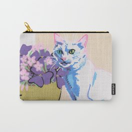 Purple Clover Carry-All Pouch