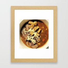 Oxtail Soup Framed Art Print