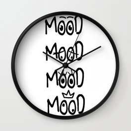 All of my moods Wall Clock