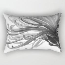 Spider Mum Black and White 2 Rectangular Pillow