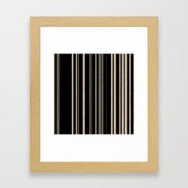 mod stripes. 01 Framed Art Print