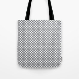 Sharkskin and White Polka Dots Tote Bag