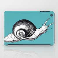 snail iPad Cases featuring Snail by Aubree Eisenwinter