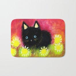 Black kitten Bath Mat