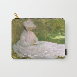 Springtime by Claude Monet Carry-All Pouch
