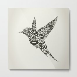 Bird from lips Metal Print