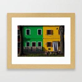 Colored Burano Framed Art Print