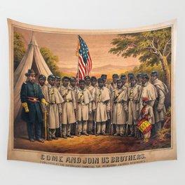 1863 Philadelphia, Pennsylvania African American Civil War Requirement Broadside Advertisement Poste Wall Tapestry