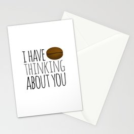 I've Bean Thinking About You Stationery Cards