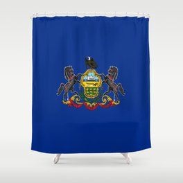 flag pennsylvania,america,us,pennsylvanian,keystone, quaker,appalach,philadelphia,pittsburgh,erie Shower Curtain