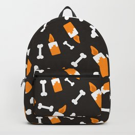 Happy halloween bones and candles pattern Backpack