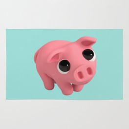 Rosa the Pig is shy Rug