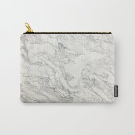 White Marble 010 Carry-All Pouch