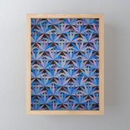 Blue Lotus Flower Tile Painting Framed Mini Art Print