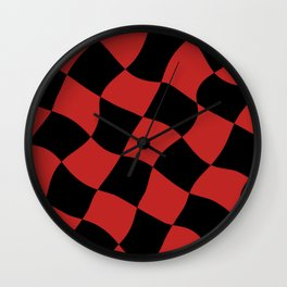 red and black cell Wall Clock