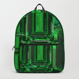 SPRING GREEN EMERALDS ART DECORATIVE  DESIGN Backpack