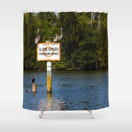 Manatee Zone Shower Curtain