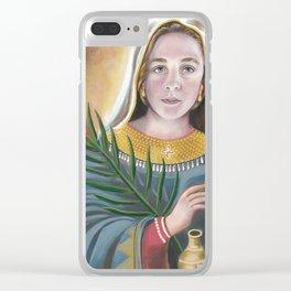 Saint Anastasia Clear iPhone Case