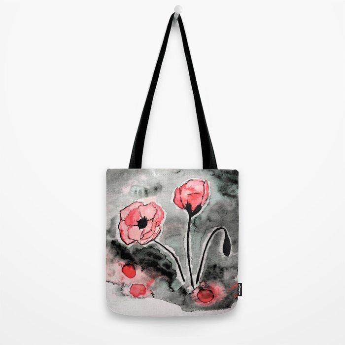 Poppies Tote Bag