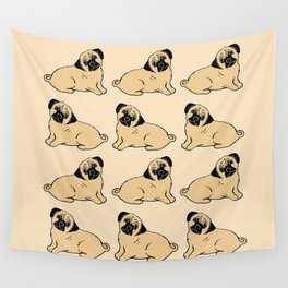 Pug Pattern Wall Tapestry