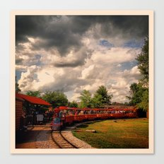 Zoo Train Canvas Print