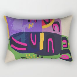 Abstract geometric art Rectangular Pillow
