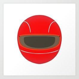 Racing Helmet Art Print