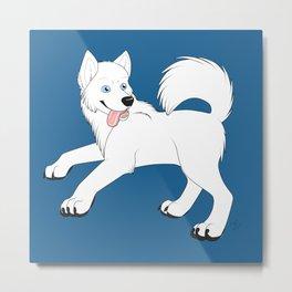 Husky (White) Metal Print